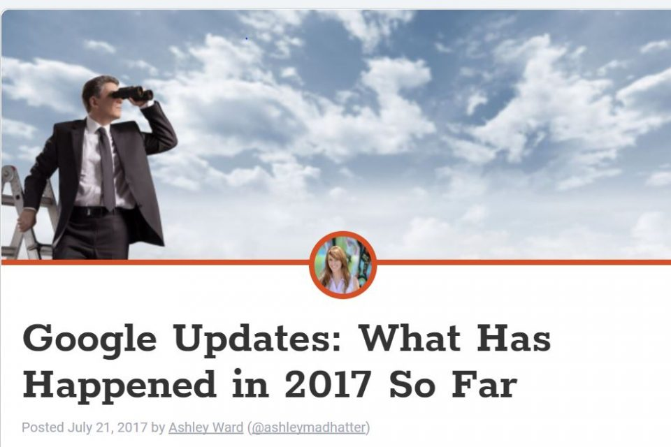 Google Updates: What Has Happened in 2017 So Far